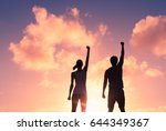 people power  strong and... | Shutterstock . vector #644349367