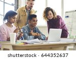 young working team ... | Shutterstock . vector #644352637