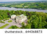 helicopter aerial view nrw... | Shutterstock . vector #644368873