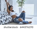 totally relaxed. attractive... | Shutterstock . vector #644376193