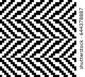 vector seamless pattern.... | Shutterstock .eps vector #644378887