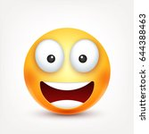smiley smiling emoticon. yellow ... | Shutterstock .eps vector #644388463