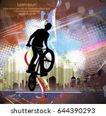 silhouette of bicycle jumper   Shutterstock .eps vector #644390293