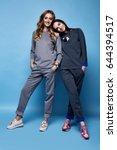two beautiful woman sexy... | Shutterstock . vector #644394517