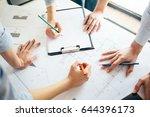 architect team working on... | Shutterstock . vector #644396173