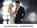 romantic style portrait of an... | Shutterstock . vector #644396983