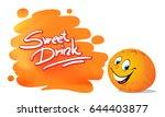 sweet orange juice fruit citrus ... | Shutterstock .eps vector #644403877