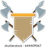 flat medieval blazon with cold... | Shutterstock .eps vector #644409067