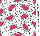 vector seamless pattern with... | Shutterstock .eps vector #644410813