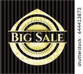 big sale gold emblem or badge | Shutterstock .eps vector #644413873