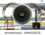 aircraft engine maintenance and ... | Shutterstock . vector #644424523