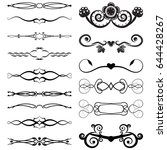 set of decorative dividers... | Shutterstock .eps vector #644428267