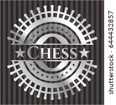 chess silver badge or emblem | Shutterstock .eps vector #644432857
