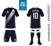 set of soccer kit or football...   Shutterstock .eps vector #644433937