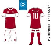 set of soccer kit or football... | Shutterstock .eps vector #644433967