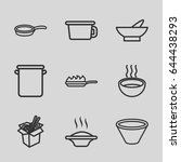 soup icons set. set of 9 soup... | Shutterstock .eps vector #644438293