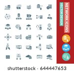 network icon set clean vector | Shutterstock .eps vector #644447653