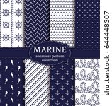 Set Of Marine And Nautical...