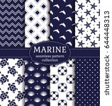 set of marine and nautical... | Shutterstock .eps vector #644448313