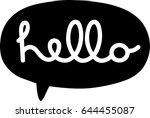 hello speech bubble | Shutterstock .eps vector #644455087