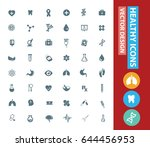 health care icon set clean... | Shutterstock .eps vector #644456953