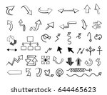 arrow line art set  graphic... | Shutterstock .eps vector #644465623