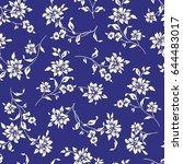 flower illustration pattern | Shutterstock .eps vector #644483017