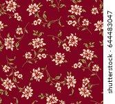 flower illustration pattern | Shutterstock .eps vector #644483047
