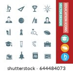 education icon set clean vector | Shutterstock .eps vector #644484073