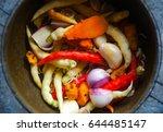 ingredient of thai curry paste... | Shutterstock . vector #644485147