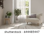 white room with armchair and... | Shutterstock . vector #644485447