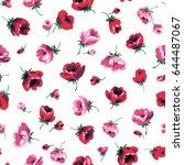 flower illustration pattern | Shutterstock .eps vector #644487067