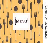 restaurant menu template.... | Shutterstock .eps vector #644489497