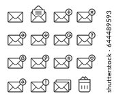 messages thin line icons   Shutterstock .eps vector #644489593