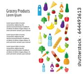 grocery products. flyer or... | Shutterstock .eps vector #644493613