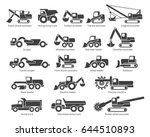 construction machinery icons... | Shutterstock .eps vector #644510893