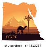 Map Of Egypt With The Image Of...