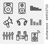 volume icons set. set of 9... | Shutterstock .eps vector #644515723