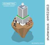 flat 3d isometric businessman... | Shutterstock .eps vector #644521813