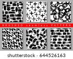 vector set of seamless pattern... | Shutterstock .eps vector #644526163