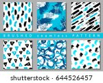 vector set of seamless pattern...