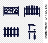 timber icons set. set of 4... | Shutterstock .eps vector #644527123