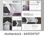 social media posts set.... | Shutterstock .eps vector #644534767