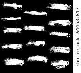 ink vector brush strokes set.... | Shutterstock .eps vector #644535817