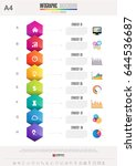infographics design template  ... | Shutterstock .eps vector #644536687