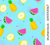 summer bright color seamless... | Shutterstock .eps vector #644543467