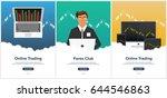 poster forex trading. forex...   Shutterstock .eps vector #644546863