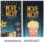 set of movie party invitation... | Shutterstock .eps vector #644551657