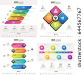 timeline infographics design... | Shutterstock .eps vector #644567767