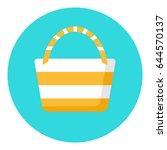 beach bag flat icon. | Shutterstock .eps vector #644570137